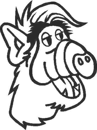 ALF Decal / Sticker