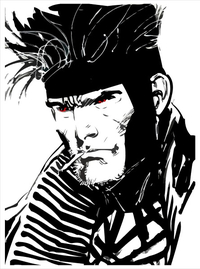 X-men Gambit Decal / Sticker 01
