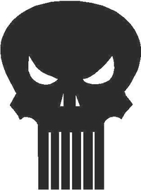 1b Punisher Decal / Sticker