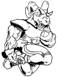 Rams Football Mascot Decal / Sticker