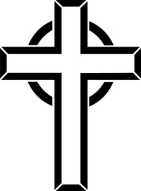 Christian Cross Decal / Sticker 65