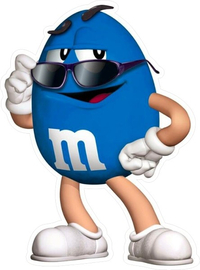 Blue Peanut M&M Decal / Sticker 22