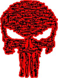Gun Punisher Decal / Sticker