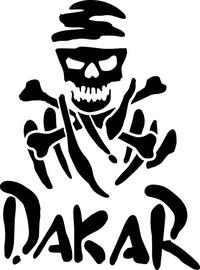 Dakar Rally Pirate Decal / Sticker 06