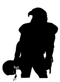 Football Eagles Mascot Decal / Sticker 01