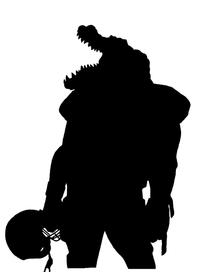 Football Gators Mascot Decal / Sticker 1
