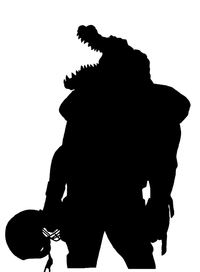 Football Gators Mascot Decal / Sticker 1