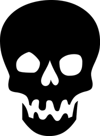 Skull Decal / Sticker 23