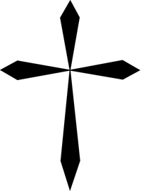 Christian Cross Decal / Sticker 25
