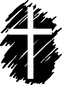Christian Cross Decal / Sticker 87