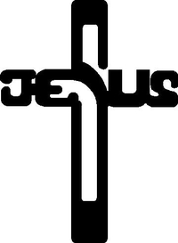Jesus Cross Decal / Sticker 01