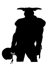 Football Bull Mascot Decal / Sticker 01