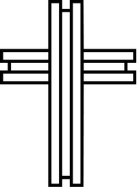 Christian Cross Decal / Sticker 77