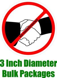 BULK 3 Inch No Handshaking Decals / Stickers 02