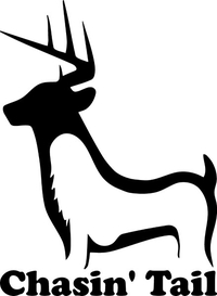 Chasing Tail Deer Decal / Sticker 02