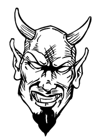 Devils Mascot Decal / Sticker 4
