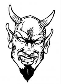 CUSTOM DEVILS MASCOT DECALS AND DEVILS MASCOT STICKERS