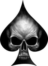 Ace of Spades Skull Decal / Sticker 02