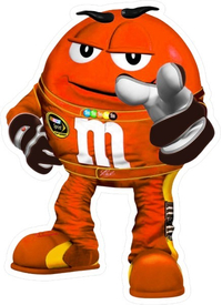 Orange NASCAR M&M Decal / Sticker 64