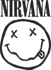 Nirvana Smiley Decal / Sticker