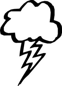 Lightning Bolt Cloud Decal / Sticker 01