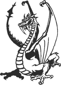 Dragon Decal / Sticker 02