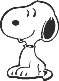 Snoopy Decal / Sticker 02