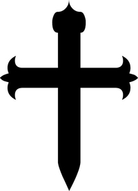 Christian Cross Decal / Sticker 64