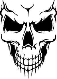 Skull Decal / Sticker 28