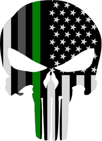 Corrections Military American Flag Punisher Decal / Sticker 160