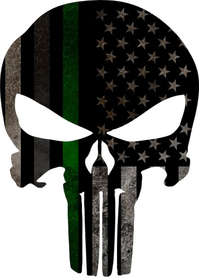 Corrections Military American Flag Punisher Decal / Sticker 161