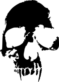 Eroded Skull Decal / Sticker 29