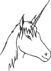 Unicorn Decal / Sticker 02