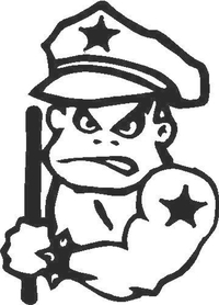 Police Boy Decal / Sticker 01