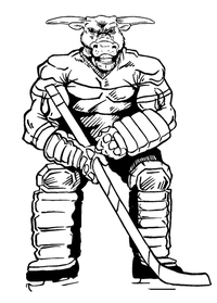 Hockey Bull Mascot Decal / Sticker 2
