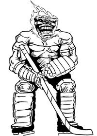 Hockey Comets Mascot Decal / Sticker 1