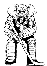 Hockey Elephants Mascot Decal / Sticker 2