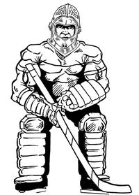 Hockey Knights Mascot Decal / Sticker 2