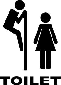 Peeping Tom Bathroom Door Toilet Decal / Sticker 01