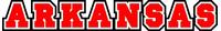 Arkansas Lettering Decal / Sticker 01