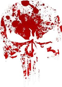Blood Spatter Punisher Decal / Sticker 155