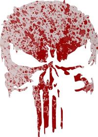 Blood Spatter Punisher Decal / Sticker 156