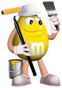 Yellow Painter M&M Decal / Sticker 46