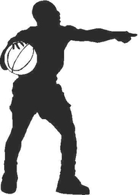 Basketball Player 01 Decal / Sticker