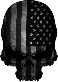 American Flag Skull Decal / Sticker 03