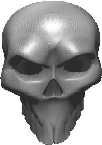 3D Carbon Fiber Skull 04 Decal / Sticker