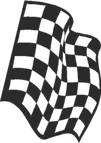Checkered Flag Decal / Sticker 18