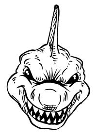 Sharks Mascot Decal / Sticker 1