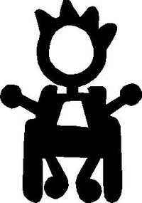 Wheelchair Boy Stick Figure Decal / Sticker 02