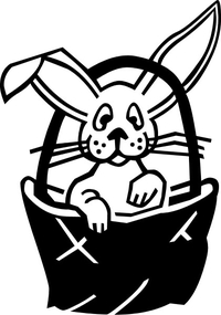 Easter Bunny Decal / Sticker 01